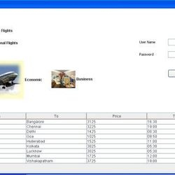 Airline Reservation in Core Java