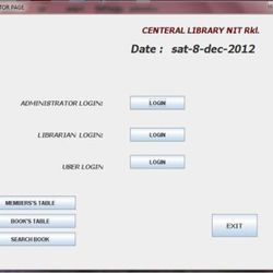 Library Management System inm Core Java