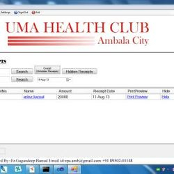 Uma Health Club,Ambala City