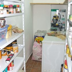 The other end of my old hall is now my pantry