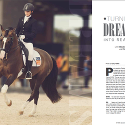 Elite Para-Equestrian dressage rider Elizabeth Sobecki Road to WEG with Baroque Horse Magazine & Equistyle Quality Stocks