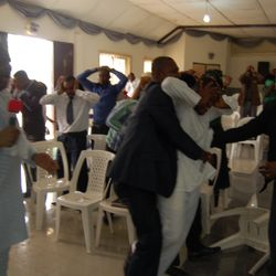THE DAY EVANGELIST CHARLES WAS IMPACTED WITH THE APOSTOLIC ANOINTING BY THE MINISTRY OF APOSTLE ANSELM MADUBUKO
