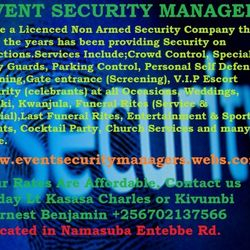Welcome to Events Security Managers Ltd.