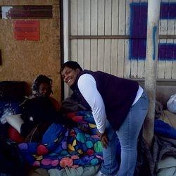 On the streets of Atlanta feeding the homeless.