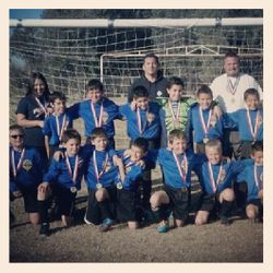 Fancher Creek S.C. representing CJSL Blue Unit! Head coach Demetrio Perez/ Asst. Marissa Cordova. Along with 2012 FC Shock players Camden Thompson and Aren Salas. All member contributing to 4 wins and 1 tie in the District VII U10 Gold div. All Stars. WTG Fancher Creek members!
