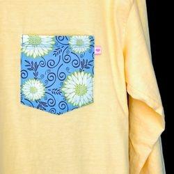 Butter Blue Floral Long Sleeve 1 Med