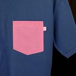 Navy Pink Dots 2 Sm
