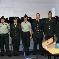 Cadets Ortega, Balk, Royal,Waldron, Marriot, Jammer and Raybuck