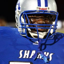 Football player #76 Eric Stanley.