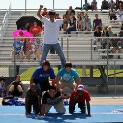 Sophomore Powderpuff cheerleaders 2012