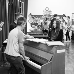 Tell me it's not true - rehearsals for 'Footlights Favourites'