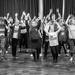 Jellicle Ball in rehearsals for 'Footlights Favourites'