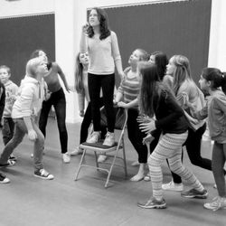 FYT members rehearsing Revolting Children for the senior sections 'I Love Musicals'