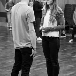Marius and Cosette in One Day More - rehearsals for 'Footlights Favourites'