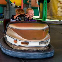 Carnival fun on the dodgem cars