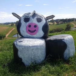 Hay bale art competition