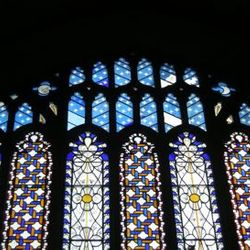 stained glass East Window designed by Louisa Catherine Beaufort