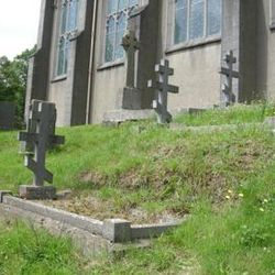 Russian Orthodox headstones