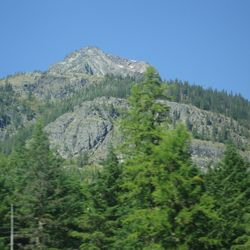 A mountain near our homes late in the summer.