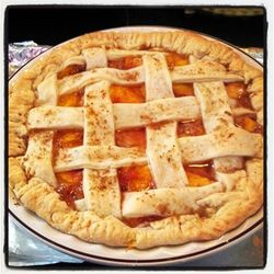 Delicious summer peach pie..