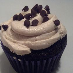 Cookie Dough Surprise! Chocolate cake, chocolate chip cookie dough filling, with cookie dough frosting with mini chocolate chips!