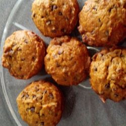 Pumpkin chocolate chip muffins! Perfect on a fall morning.