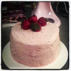 Fresh strawberry cake!