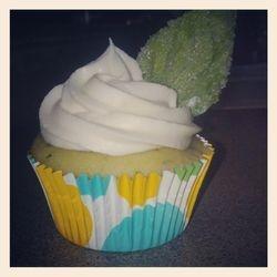 Lemon Basil cupcake! So fresh and light!