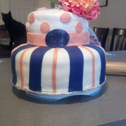 Sweet Sixteen Cake! Chocolate chip cookie dough cake! Homemade marshhmallow fondant!