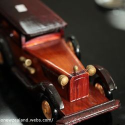 Wooden vintage car.  in Thames store