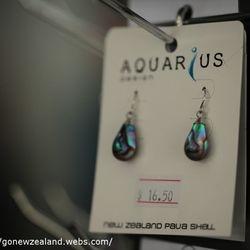 Paua earing in Thames store