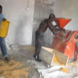 Maize milling at our workshop