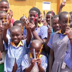 Happy faces of some Bizoha students