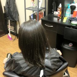 After the Keratin treatment