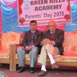 From left, Principal with Chief Guest Prof. Dr. Jay Raj Acharya during Parents' Day