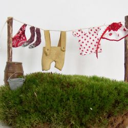 Fairy Clothesline Featuring Leather Lederhosen