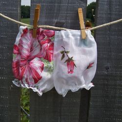 Little Girl's Diaper Cover made from vintage hankies