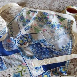 Vintage Hanky Apron in Blues