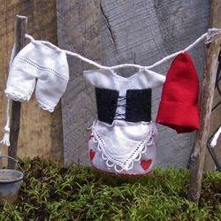 Mrs. Gnome's dress and pantaloons!