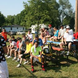 Tournament Directors Deli Stinnett and Ian Titus give directions