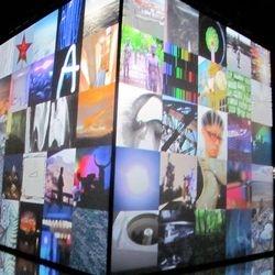 """Lego Light Space Modulator"" - Apparatjik Light Space Modulator, Neue Nationalgalerie, Berlin, 2011"