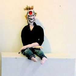 """Manga Magne"" doll for Magne Furuholmen's ""Scrabble"" exhibition, 2007"