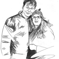 Self portrait with Morten Harket, 2010