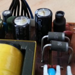 Bulging capacitors are faulty and need replacing