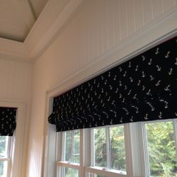 Custom operable roman shades