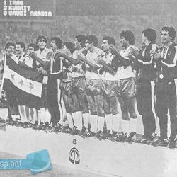Iraq with their gold medals at the 1982 Asian Games