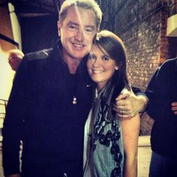 Louise meeting Michael Flatley