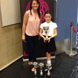 Louise & Edie- Proudly showing off her Trophies