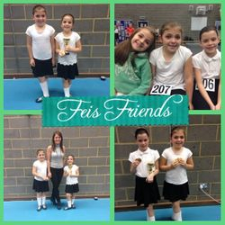 Feis friends- Edie, Gabriella and Isabella