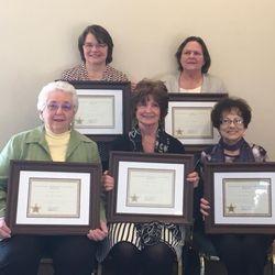 2018 Women In History Luane Meyer (TL), Kathleen Peterson (TR), Charlotte Thompson (BL), Clarice Franke (BM), Delores Severson (BR)
